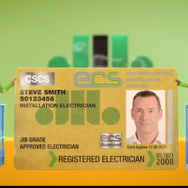 First ECS Registered Electrician cards issued