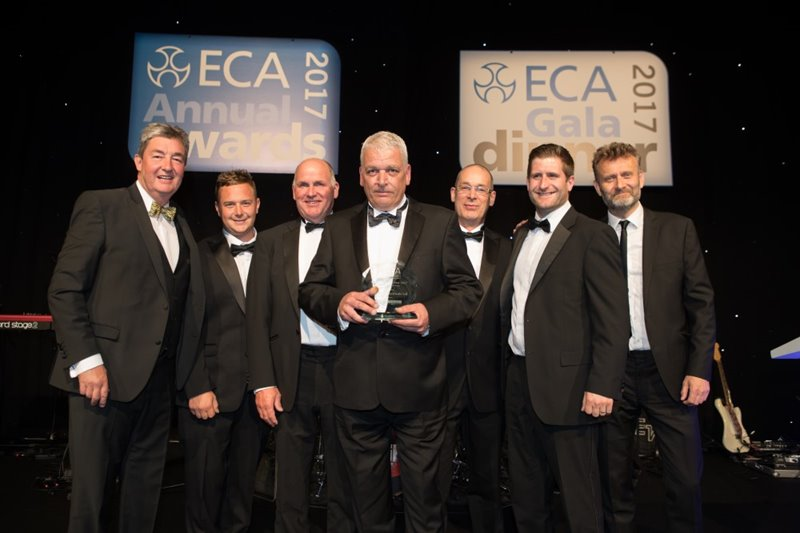 ECA Contractor of the year Award 2017 - up to £1million turnover (sponsored by Edmundson)