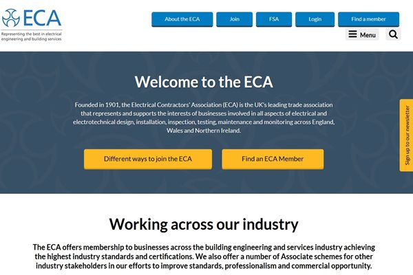 New ECA website launches today